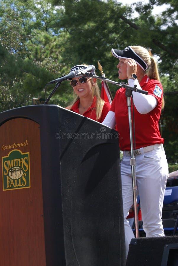 Henderson Sisters Hometown Speech royalty-vrije stock fotografie