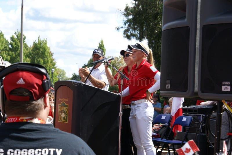 Henderson Sisters Hometown Speech royalty-vrije stock afbeeldingen
