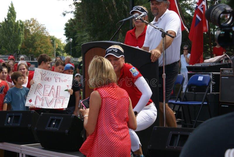 Henderson Sisters Hometown Speech stock afbeeldingen