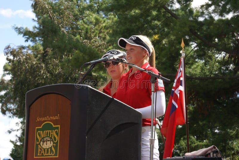 Henderson Sisters Hometown Speech royalty-vrije stock afbeelding