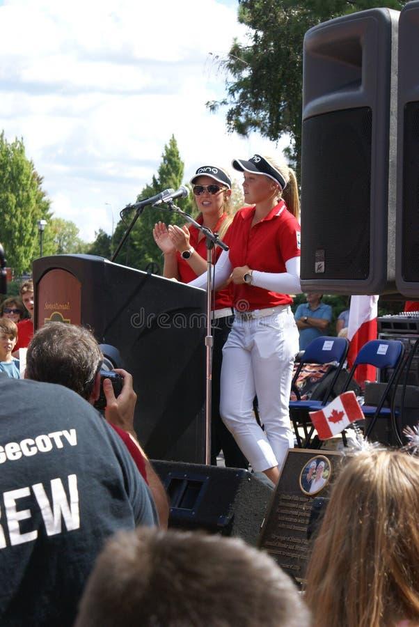 Henderson Sisters Hometown Speech stock fotografie