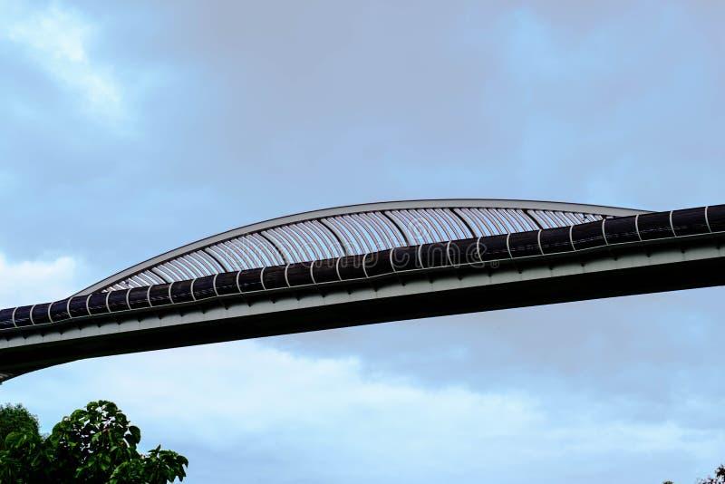 Henderson Wave Bridge The bro, som är över 274 meter i le arkivfoto
