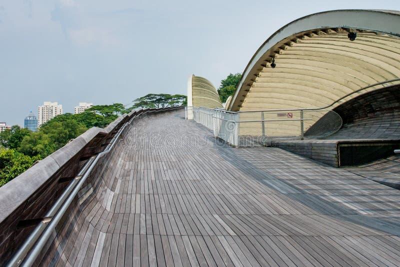 Henderson Waves är den högsta fot- bron i Singapore royaltyfri fotografi