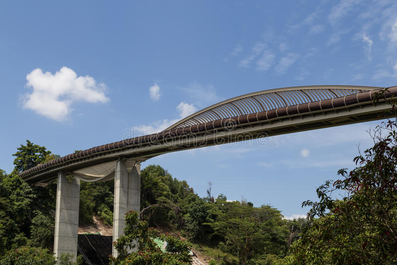 Henderson Waves Bridge Singapore lizenzfreies stockfoto
