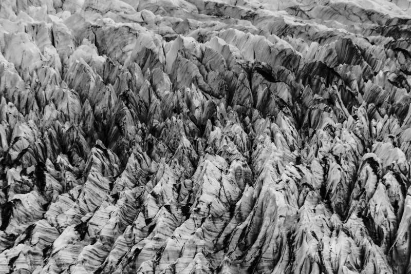 Hendiduras en el glaciar de Cerro Torre dentro de los glaciares parque nacional, la Argentina imágenes de archivo libres de regalías