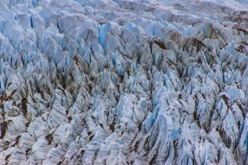 Hendiduras en el glaciar de Cerro Torre dentro de los glaciares parque nacional, la Argentina imagenes de archivo