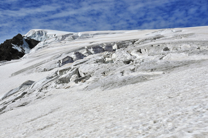 Hendiduras en el glaciar de Stockji fotos de archivo libres de regalías