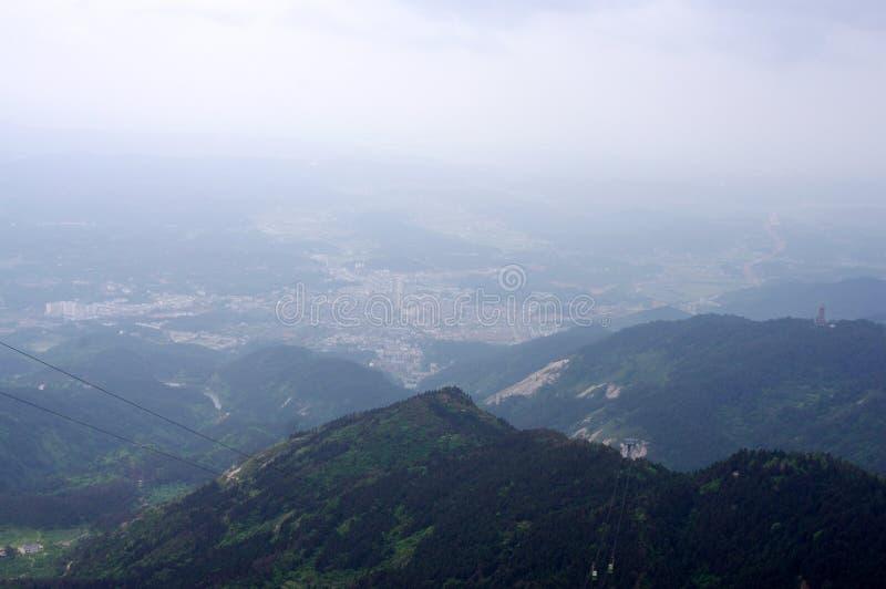 Hengshan Mountain in Hunan China stock image