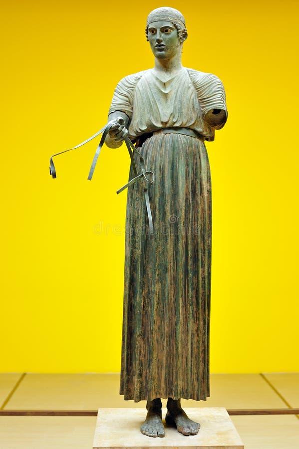 Heniokhos charioteer brązu statua obrazy royalty free
