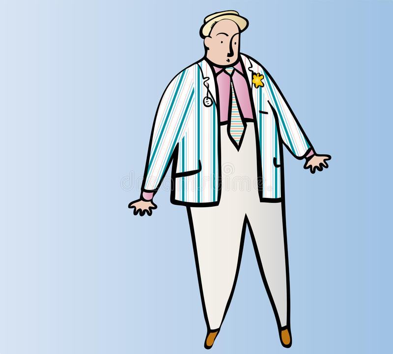 Henley Regatta dress royalty free illustration