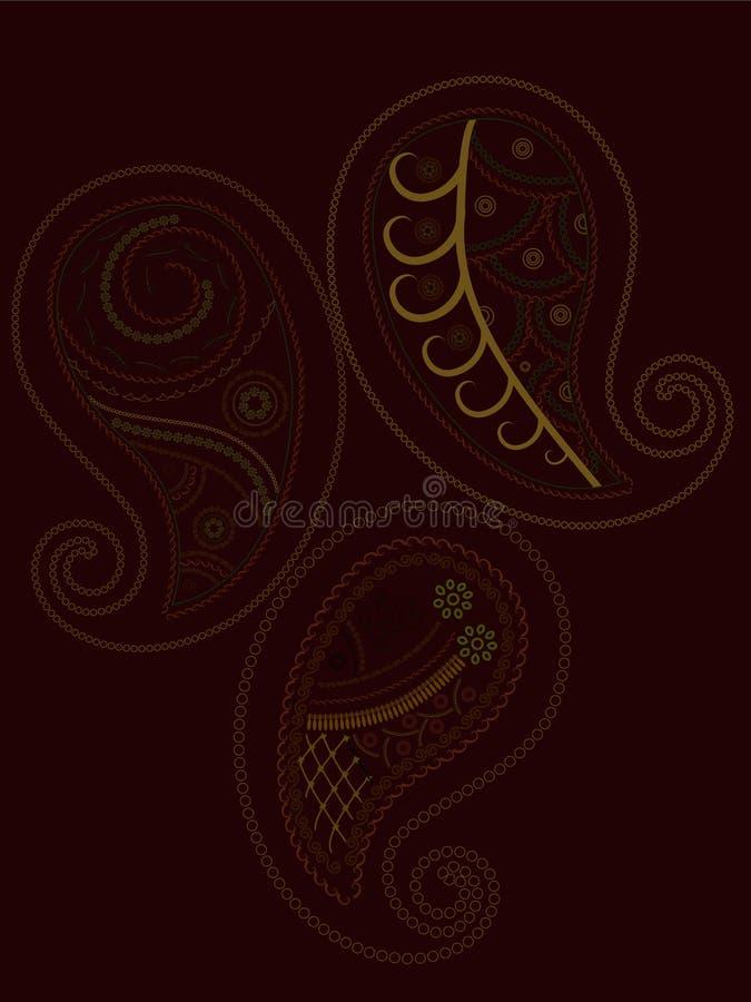 henné Paisley illustration libre de droits