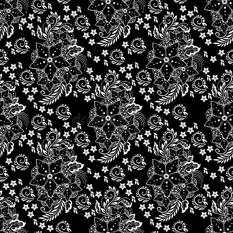 Henna μοτίβου στοιχειώδης απεικόνιση λουλουδιών διανυσματική απεικόνιση