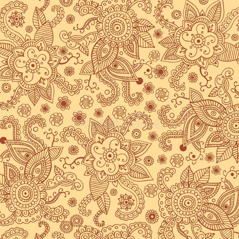 Henna το mehndi bagkround για την τυπωμένη ύλη, σχέδιο, κλωστοϋφαντουργικό προϊόν, ύφασμα διανυσματική απεικόνιση