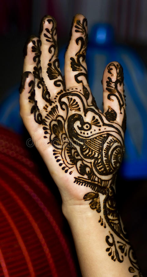 henna χεριών σχεδίου στοκ φωτογραφία με δικαίωμα ελεύθερης χρήσης