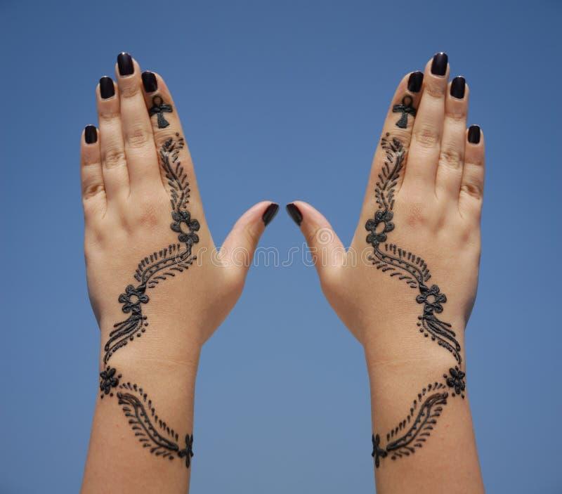 henna χεριών σχεδίου στοκ φωτογραφία