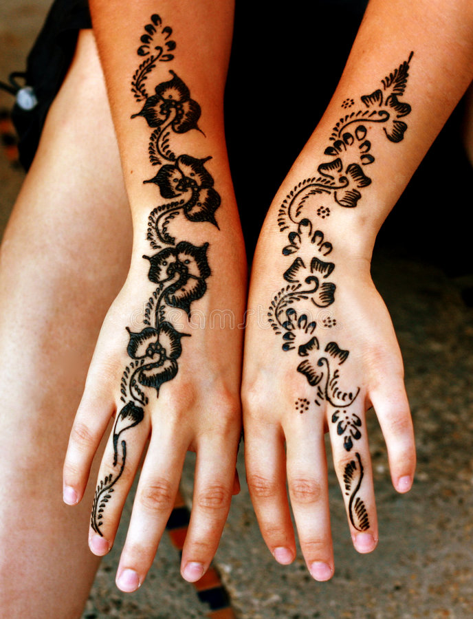 Henna stock afbeelding