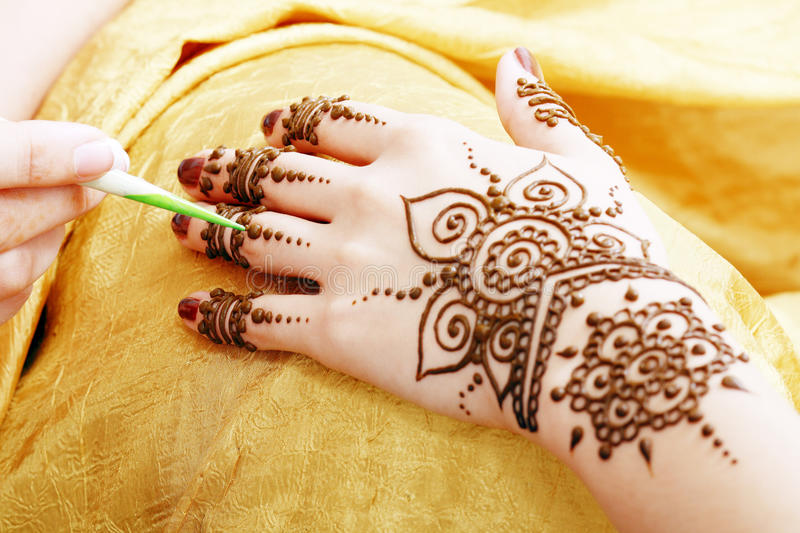 Download Henna applying stock image. Image of decoration, indian - 33410569