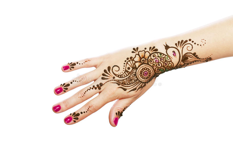 Henna being applied royalty free stock photography