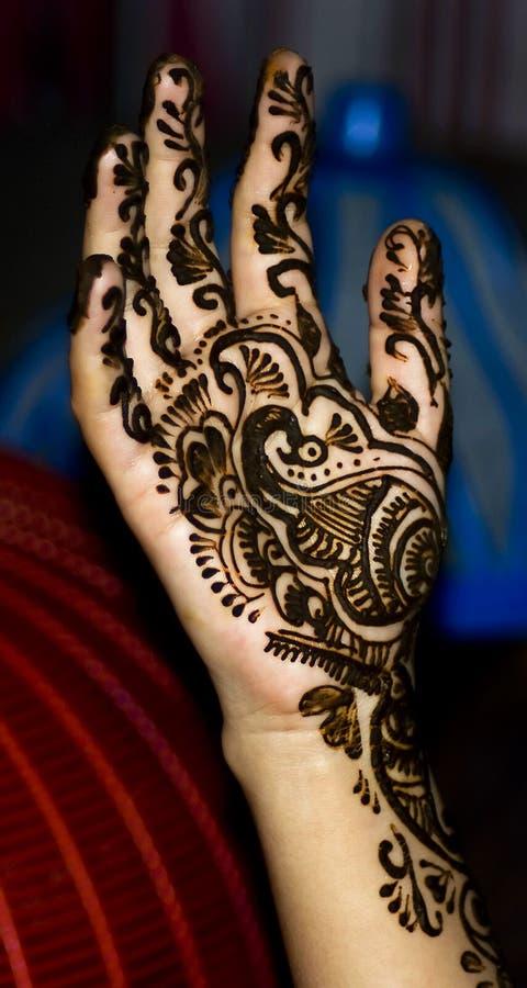 Download Henna design on hand stock image. Image of hina, arab - 15658125