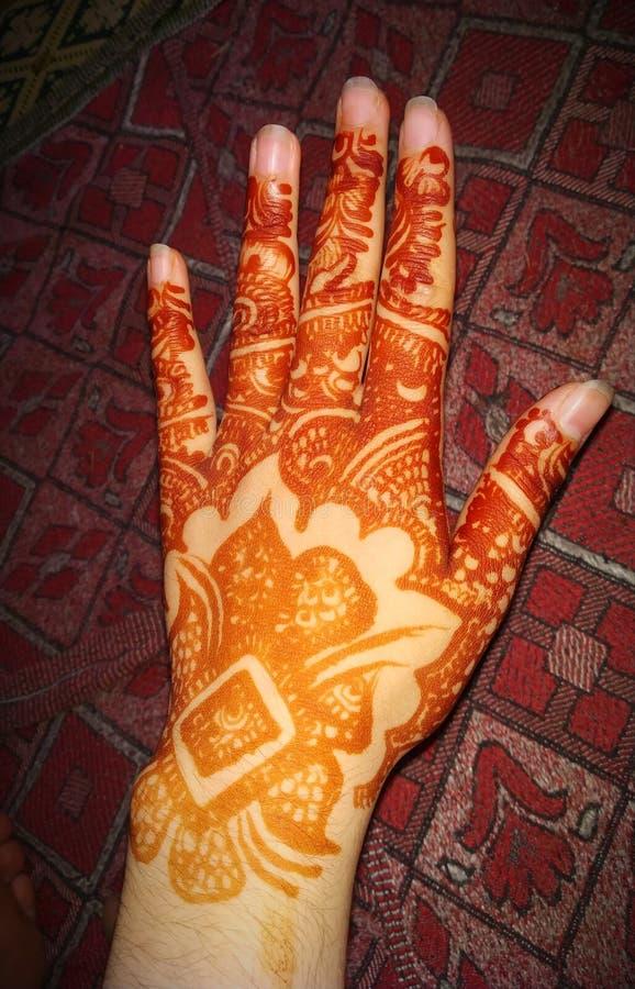 Henna Designs For Girls árabe foto de stock