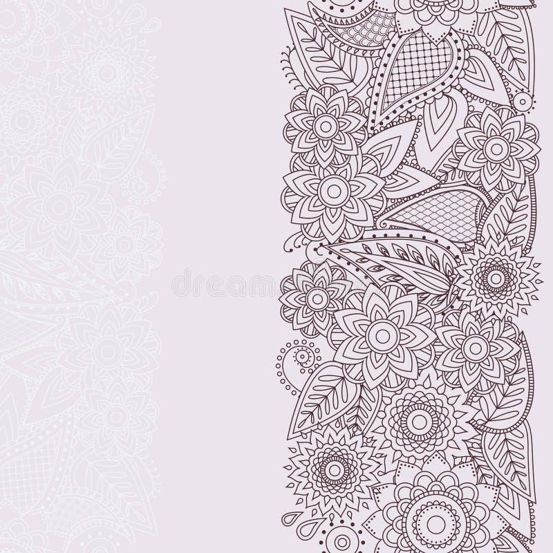 Henna flowers mehndi design vector seamless pattern stock vector download henna flowers mehndi design vector seamless pattern stock vector illustration of background apparel stopboris Images