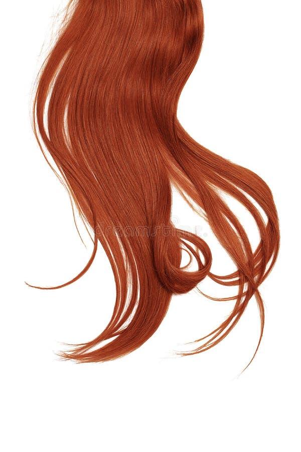 Henna hair isolated on white background. Long disheveled ponytail. Henna hair isolated on white background. Long ponytail stock photos