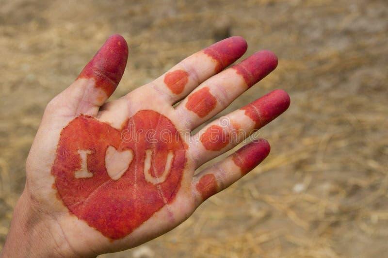 Henna hand stock photo