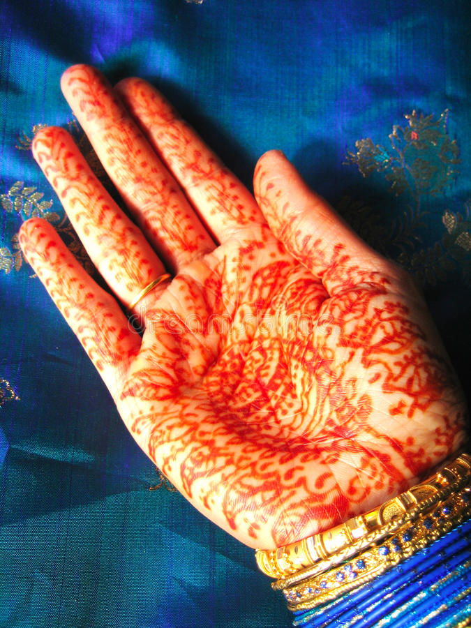 Download Henna hand stock image. Image of saree, artistic, design - 19942273