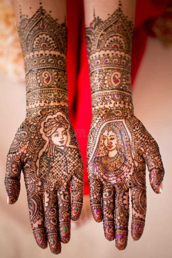 Henna Hand paint royalty free stock image