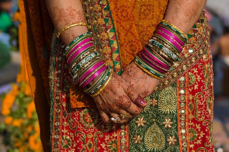 Henna On Hands Royalty Free Stock Photos