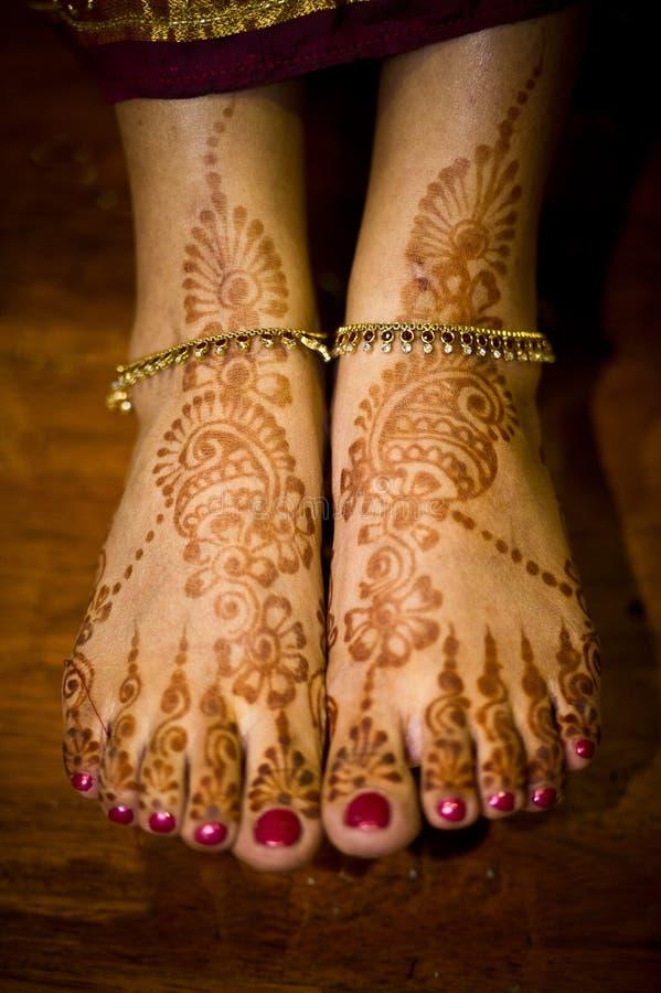 Mehendi Ceremony S Free Download : Henna mehendi on indian bride s feet stock photo image