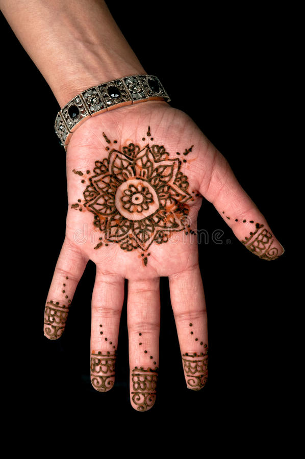 Henna - Mehendi tattoo - body art 01 stock photography