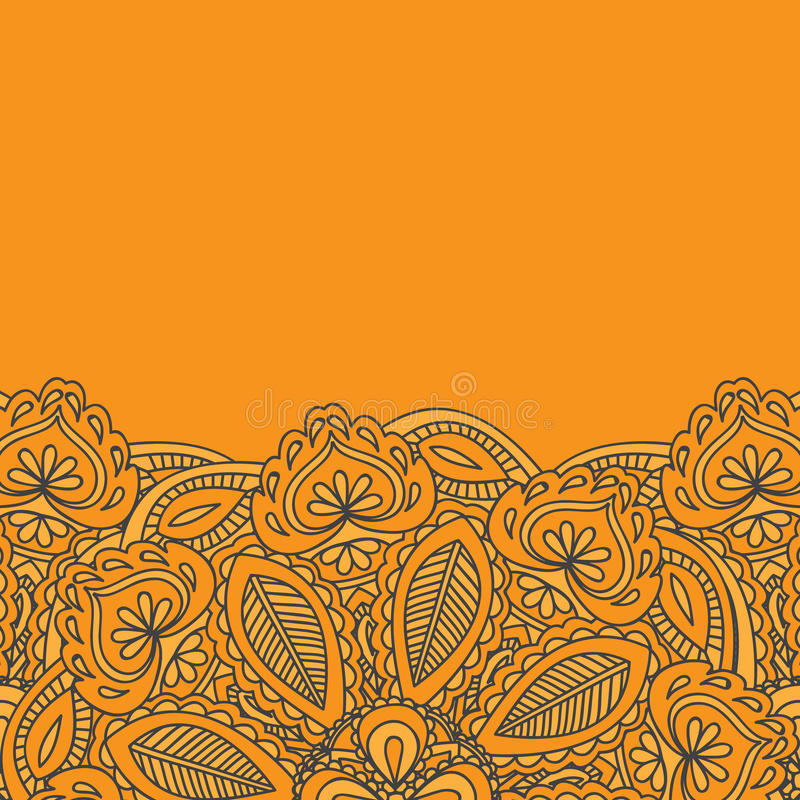 Line Art Card Design : Henna mehndi card template invitation design