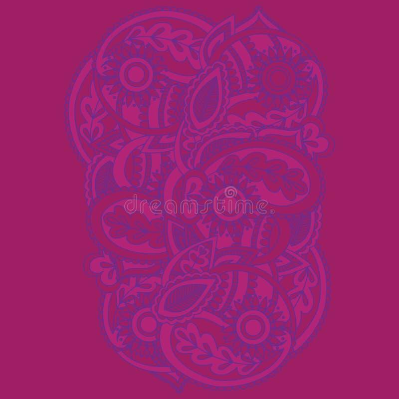 Henna Mehndi Card Template Projeto do convite de Mehndi, elemento para convites da decoração e cartões, linha floral ornam de Pai ilustração do vetor