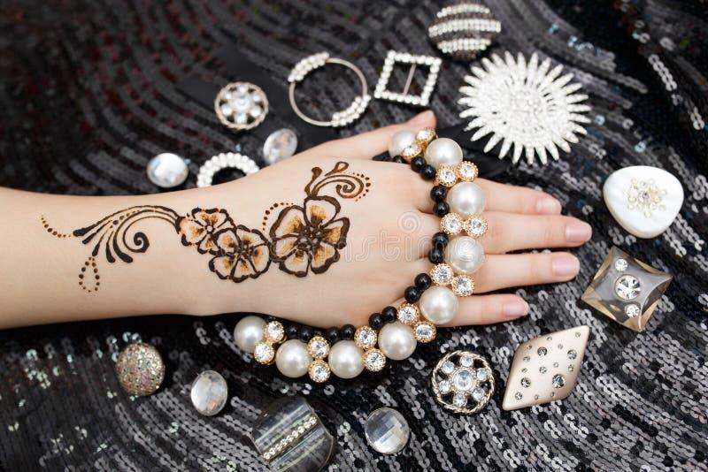 Henna na ręce zdjęcia stock