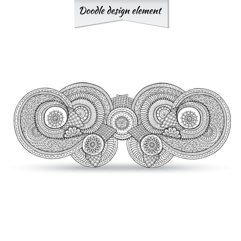 Henna Paisley Doodle Floral Design-Element vektor abbildung