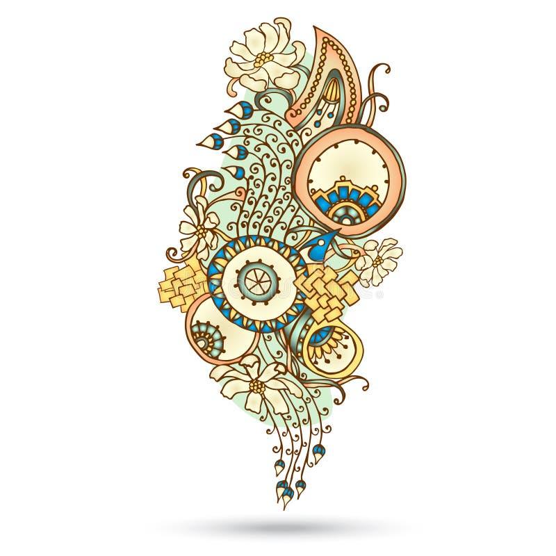 Henna Paisley Mehndi Abstract Vector-Element. vector illustratie