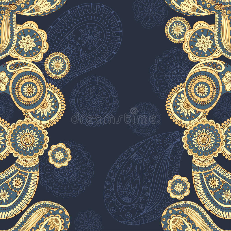 Henna Paisley Mehndi Doodles Asian Design Pattern. Stock ...