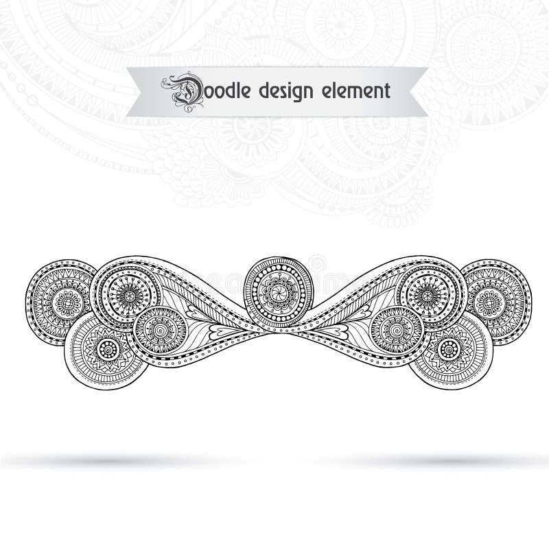 Henna Paisley Mehndi Doodles Floral-Element lizenzfreie abbildung