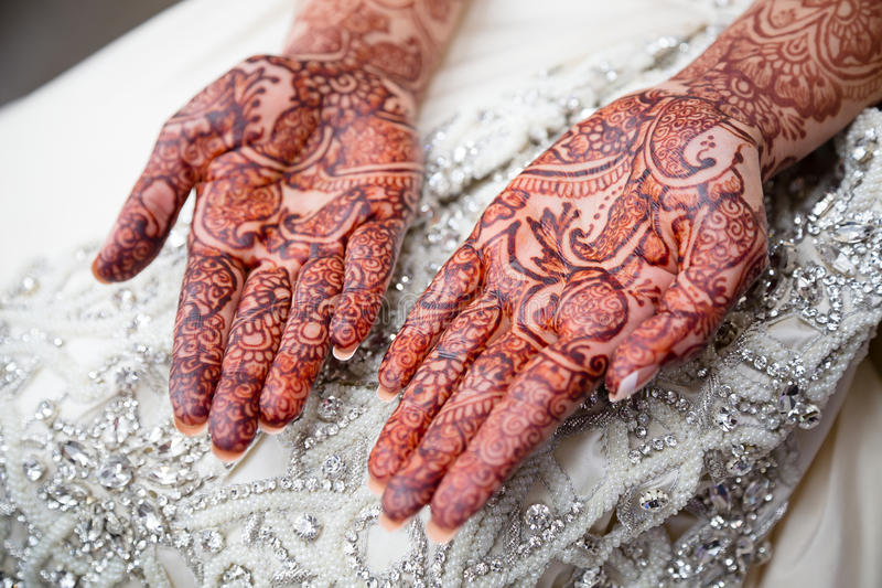 Henna Palms royalty-vrije stock afbeeldingen