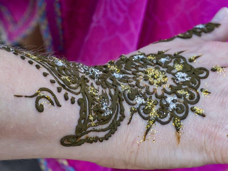 Henna Tattoo photo libre de droits