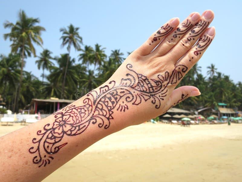 Henna Tattoo Beach: Henna Tattoo On The Arm Stock Image. Image Of Exercise