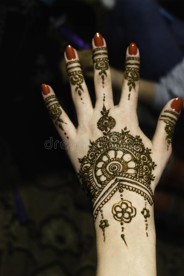 Henna tattoo stock image
