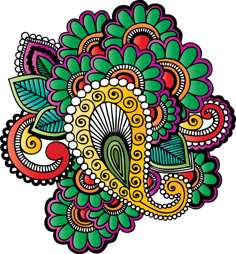 henna tattoo motifs stock vector illustration of floral 27351837 rh dreamstime com