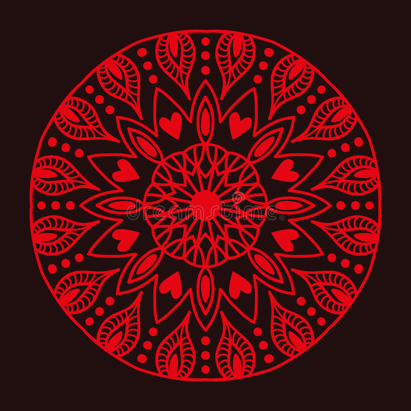 Free Henna Tattoo Red Mehndi Flower Template Doodle Ornamental Lace Decorative Element And Indian Design Pattern Paisley Stock Photography - 89287122