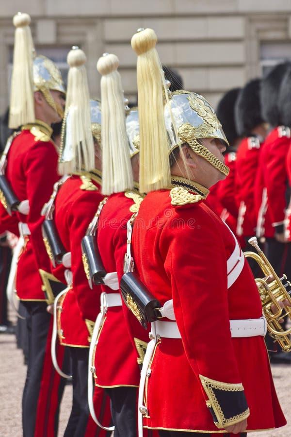 Henne majestät Coldstream Regiment av fotGuards arkivfoton