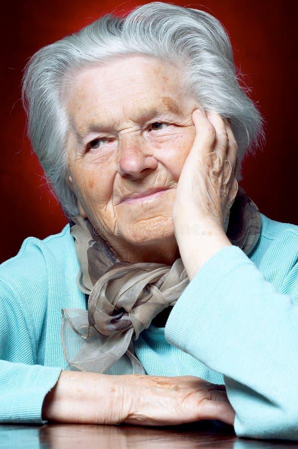 henne ninetieskvinna royaltyfri foto
