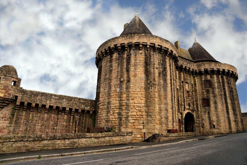 Hennebont kasztel w Brittany, Francja zdjęcie stock
