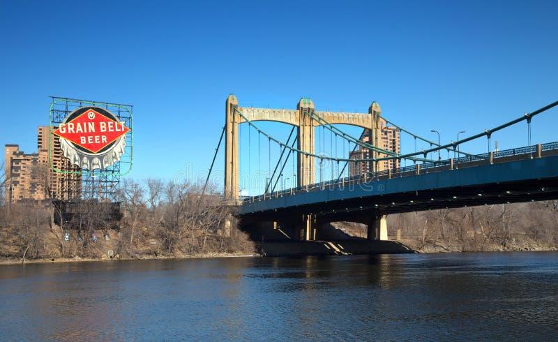 Hennepin alei most w Minneapolis zdjęcie royalty free