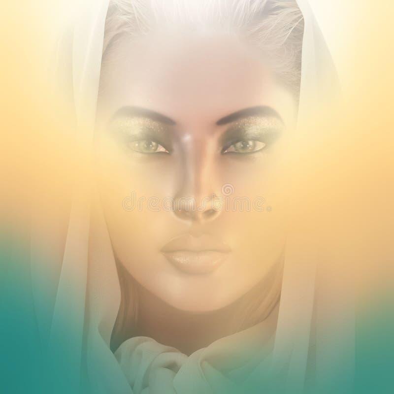 Hennes helighet. stock illustrationer